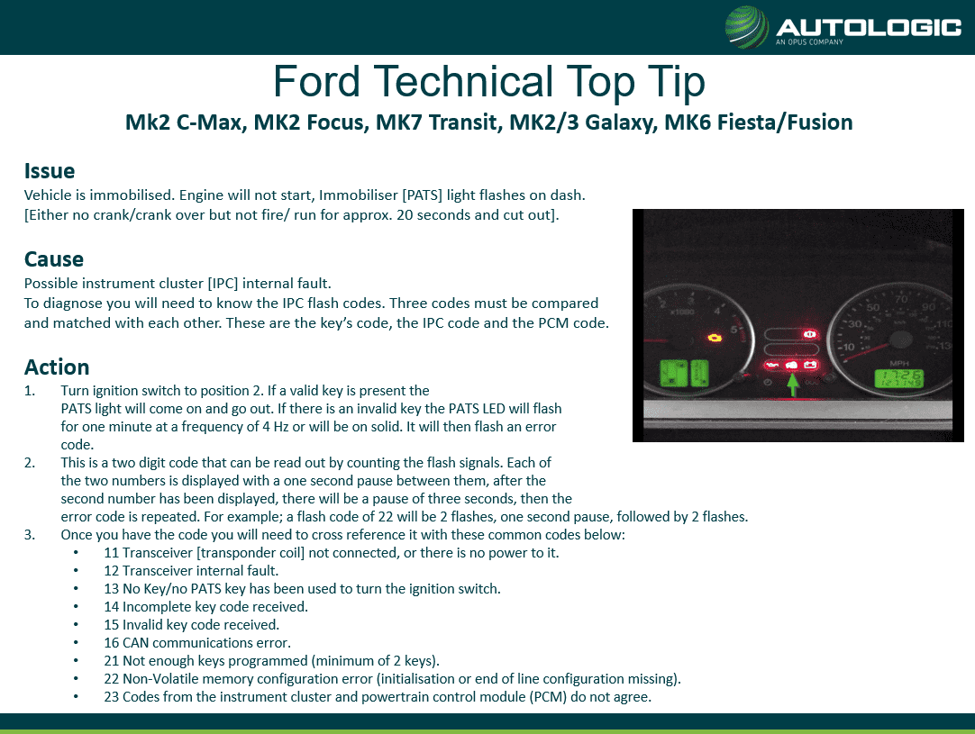 Ford Technical Top Tip