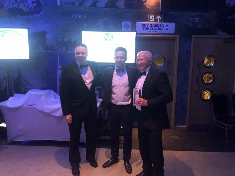 BNTec German Autocare accepting 'Specialist Garage of the Year' award from Neil LePine, Autologic.