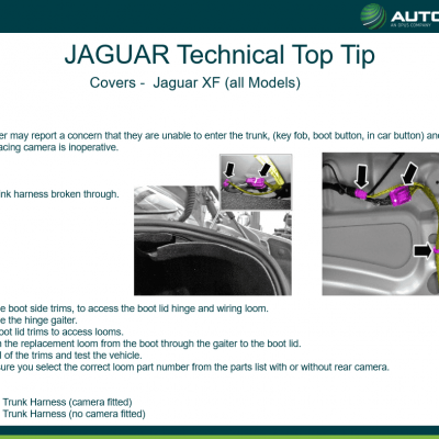 JAGUAR Technical Top Tip