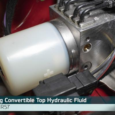 How to Fill Convertible Top Hydraulic Fluid on MINI R57 Models