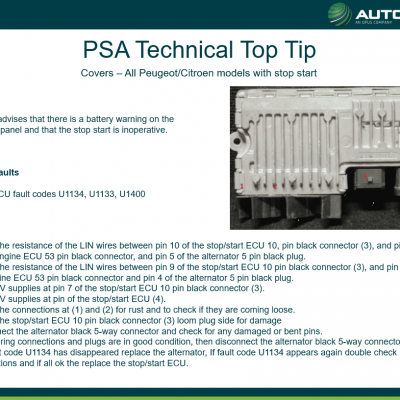 Top Tip - Peugeot and Citroen