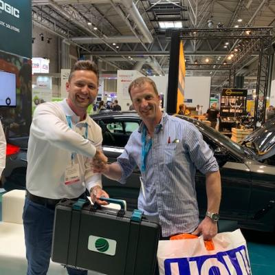 Simon Powney, Director of Markhams Garage Ltd, leaves Automechanika with £9,000 worth of Autologic products