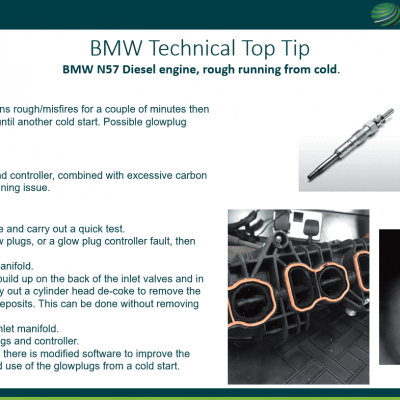 Top Top - BMW Diesel engine, rough running from cold