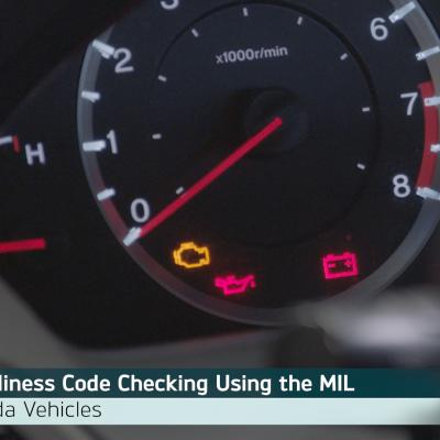 Honda OBD II Emission Monitor Status Readiness Code Checking Using the Instrument Cluster
